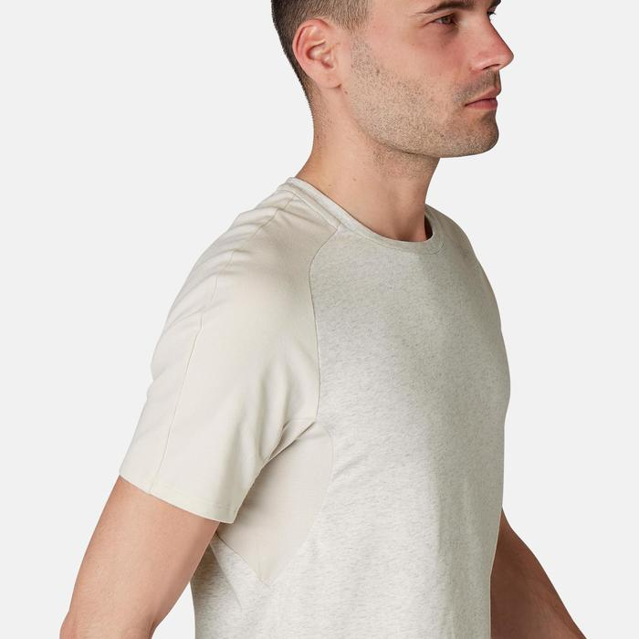 T-Shirt 520 Regular Gym & Pilates Herren beige meliert