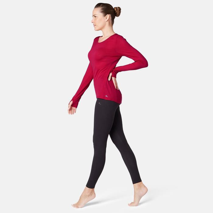 Langarmshirt 510 Merinowolle Pilates & sanfte Gymnastik Damen rot