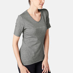 510 Women's Regular-Fit Gentle Gym & Pilates T-Shirt - Grey Print