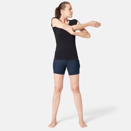 520 Women's Gentle Gym & Pilates Shorts - Navy Blue