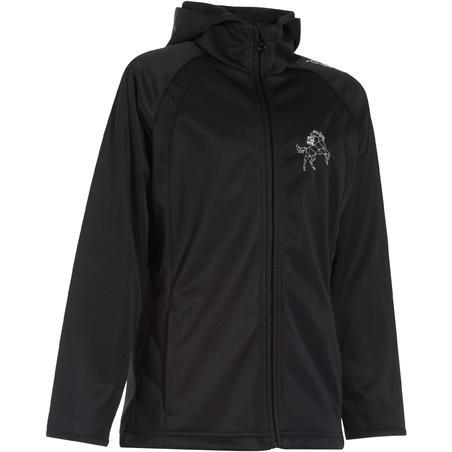 500 Children's Horse Riding Softshell Jacket - Black