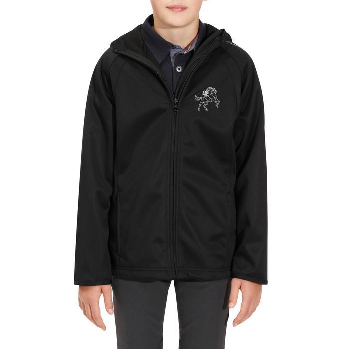 Veste Softshell équitation enfant 500 noir