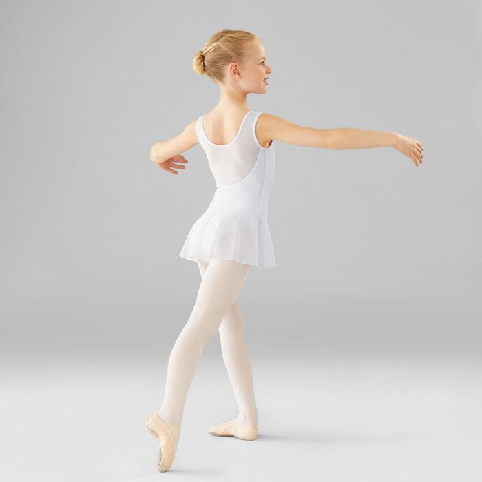 Tunique de danse classique bi-matière fille blanche