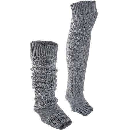 Women's Stirrup Leg Warmers - Grey
