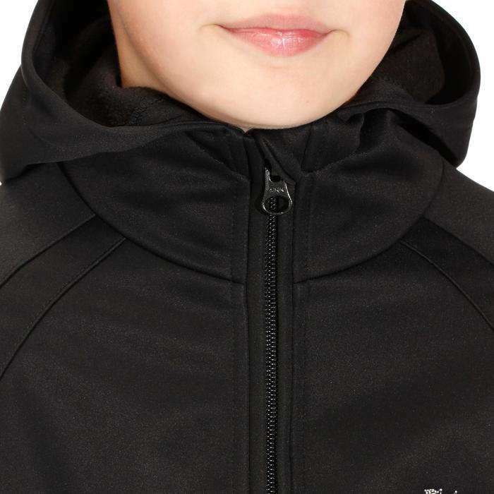 Softshelljacke Reiten 500 Kinder schwarz
