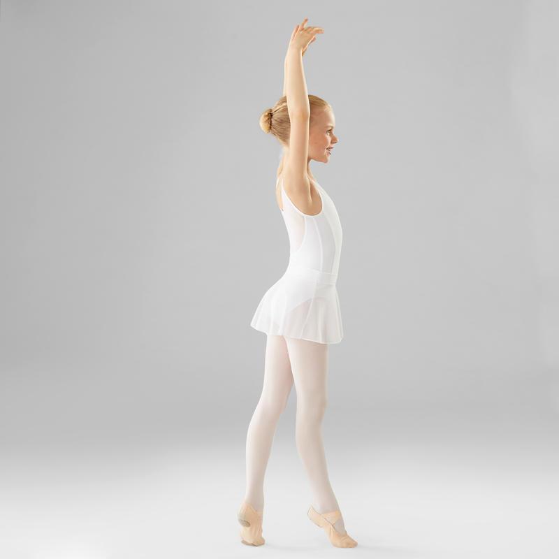 Malla de danza clásica de dos tejidos niña blanco