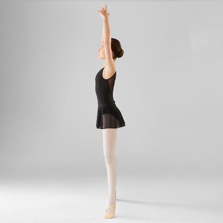 Dual Fabric Ballet Leotard - Girls