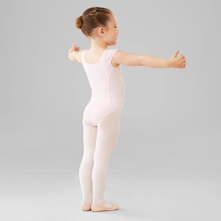 Short-Sleeved Ballet Leotard Pink - Girls