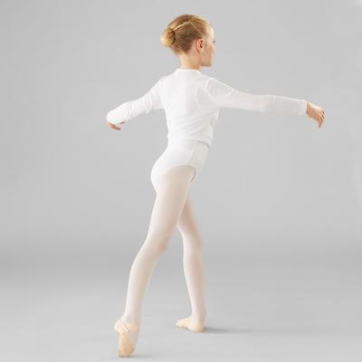 Saco cruzado de ballet niña blanco