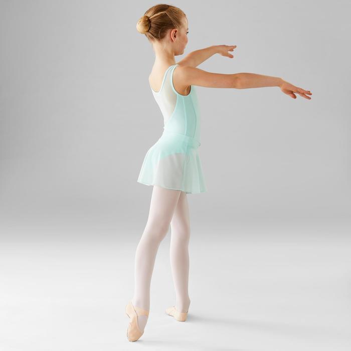 Justaucorps de danse classique bi-matière fille vert pâle.