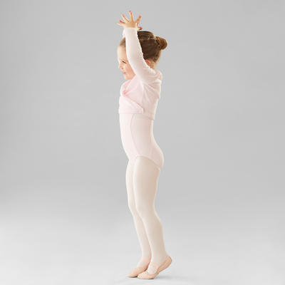 Girls' Ballet Wrap-Over Top - Pale Pink