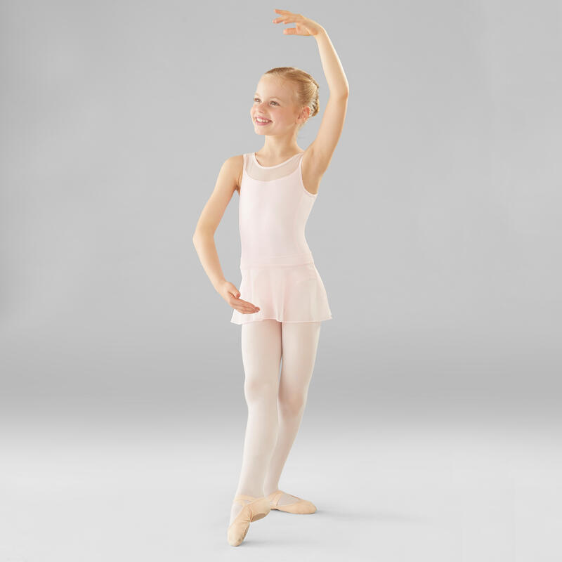 Faldita de danza clásica de gasa niña rosa