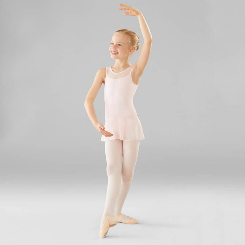 DÍVČÍ TRIKOTY, OBLEČENÍ NA BALET Balet - DÍVČÍ BALETNÍ TRIKOT RŮŽOVÝ DOMYOS - Balet