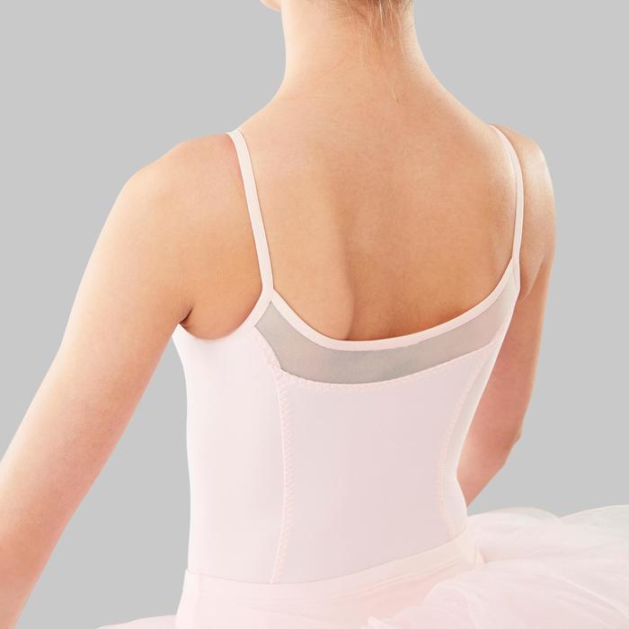 Justaucorps de danse classique à bretelles fille rose