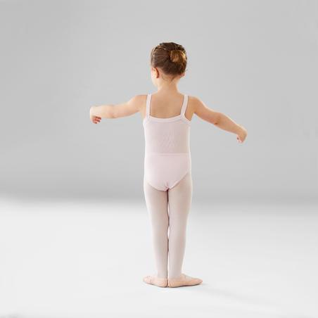 Léotard de danse classique à bretelles fines rose – Filles