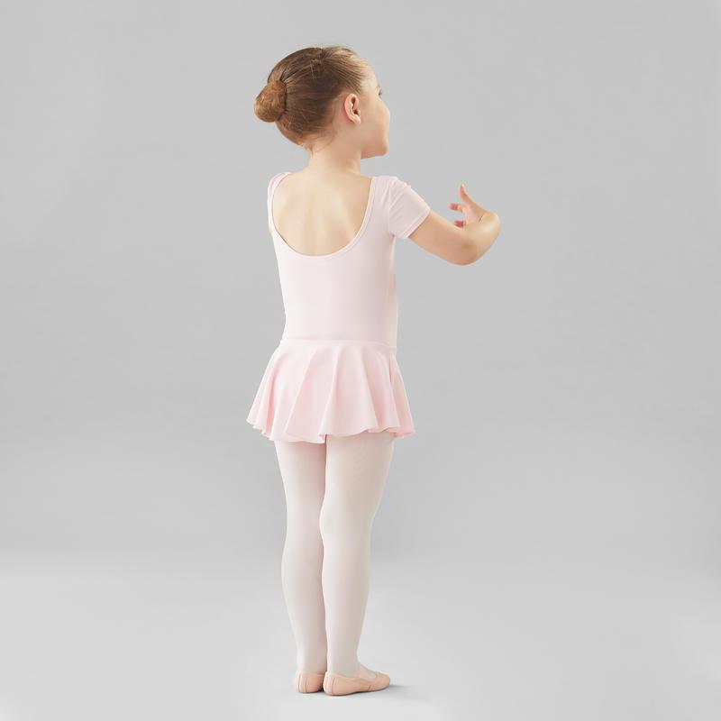 ชุดลีโอตาร์ดเต้นบัลเลต์แบบมีกระโปรงสำหรับเด็กผู้หญิง (สีชมพู)