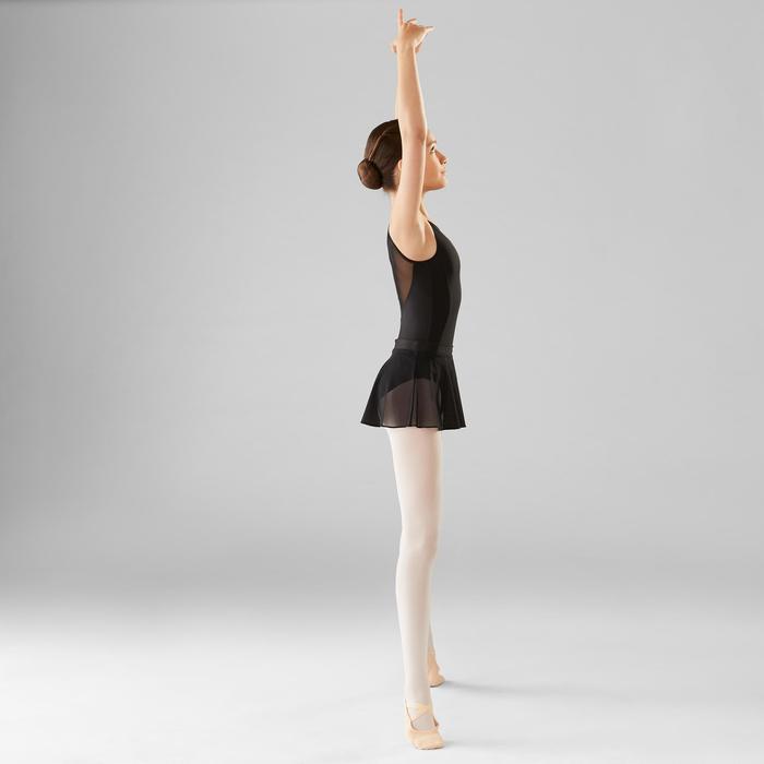 Balletrokje in voile voor meisjes zwart