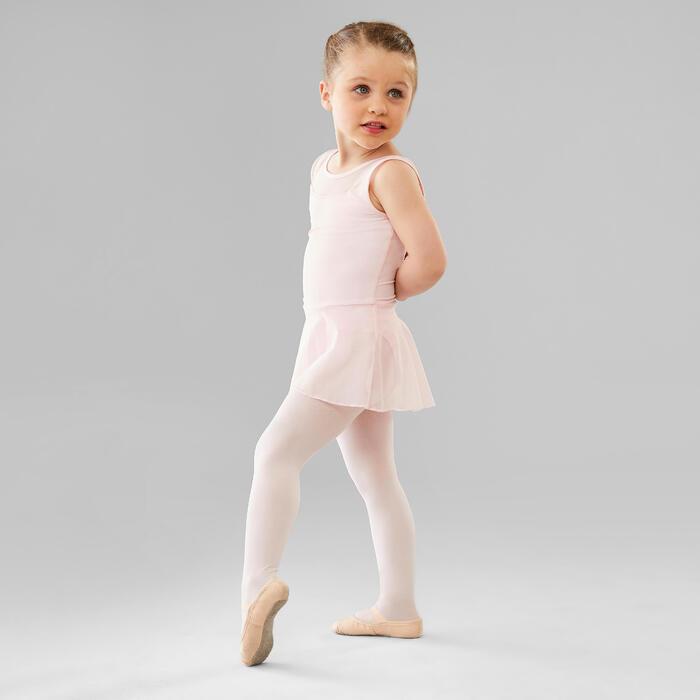Balletpakje met rokje voor meisjes twee stoffen roze