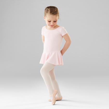 Léotard de danse classique à jupette rose – Filles