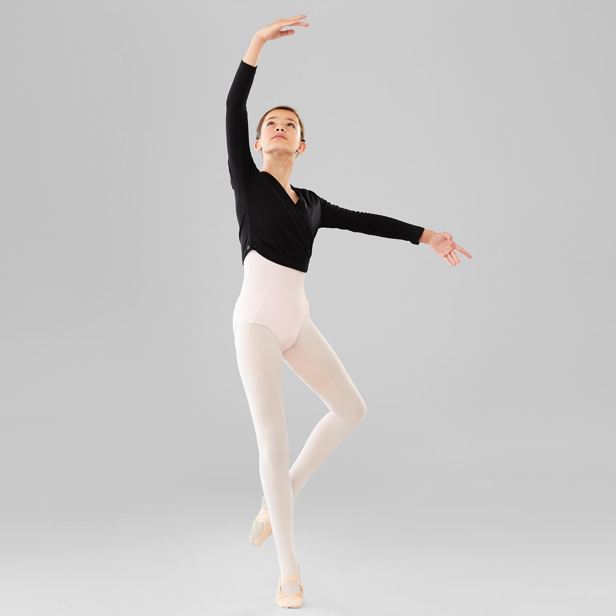 f139a618848 Chaqueta Cruzada Ballet Domyos Niña Negra Domyos   Decathlon