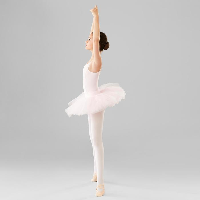 Justaucorps danse classique rose à bretelles fille