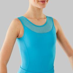 Maillot de danza clásica de dos tejidos niña azul