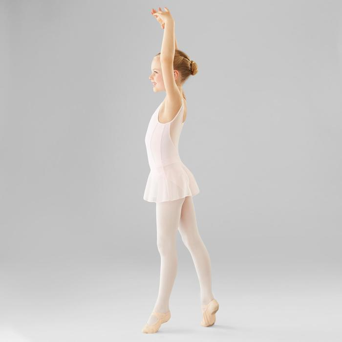 Justaucorps de danse classique bi-matière fille rose pâle
