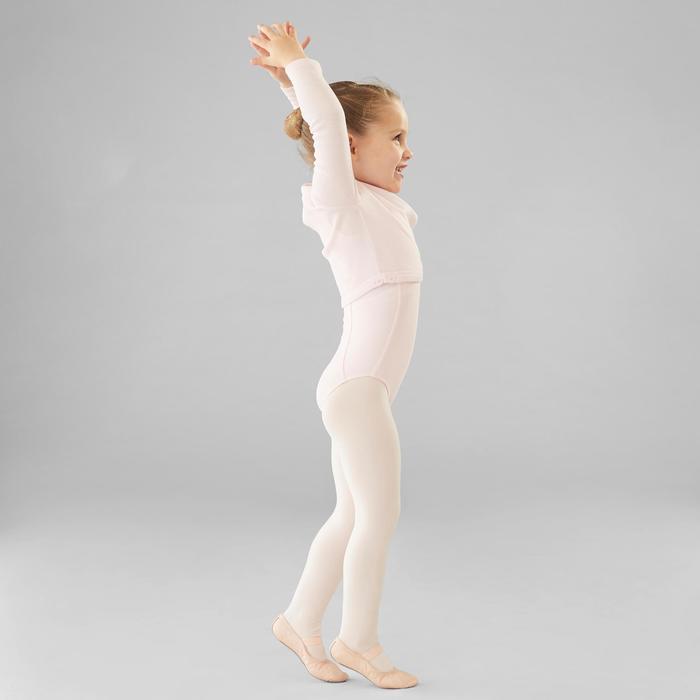 Cache-coeur klassiek ballet voor meisjes vaalroze