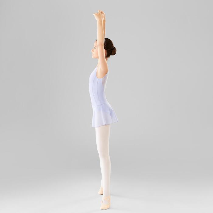 Balletpakje in twee stoffen voor meisjes zachtpaars