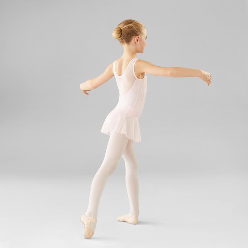 Malla de danza clásica de dos tejidos niña rosa
