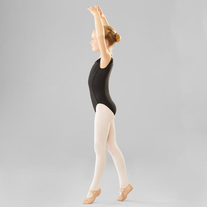Justaucorps danse classique noir manches courtes fille