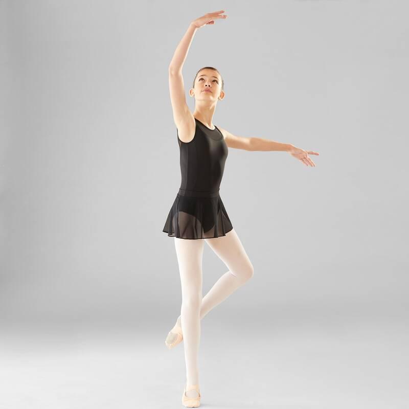 DÍVČÍ TRIKOTY, OBLEČENÍ NA BALET Balet - DÍVČÍ BALETNÍ TRIKOT ČERNÝ DOMYOS - Baletní oblečení