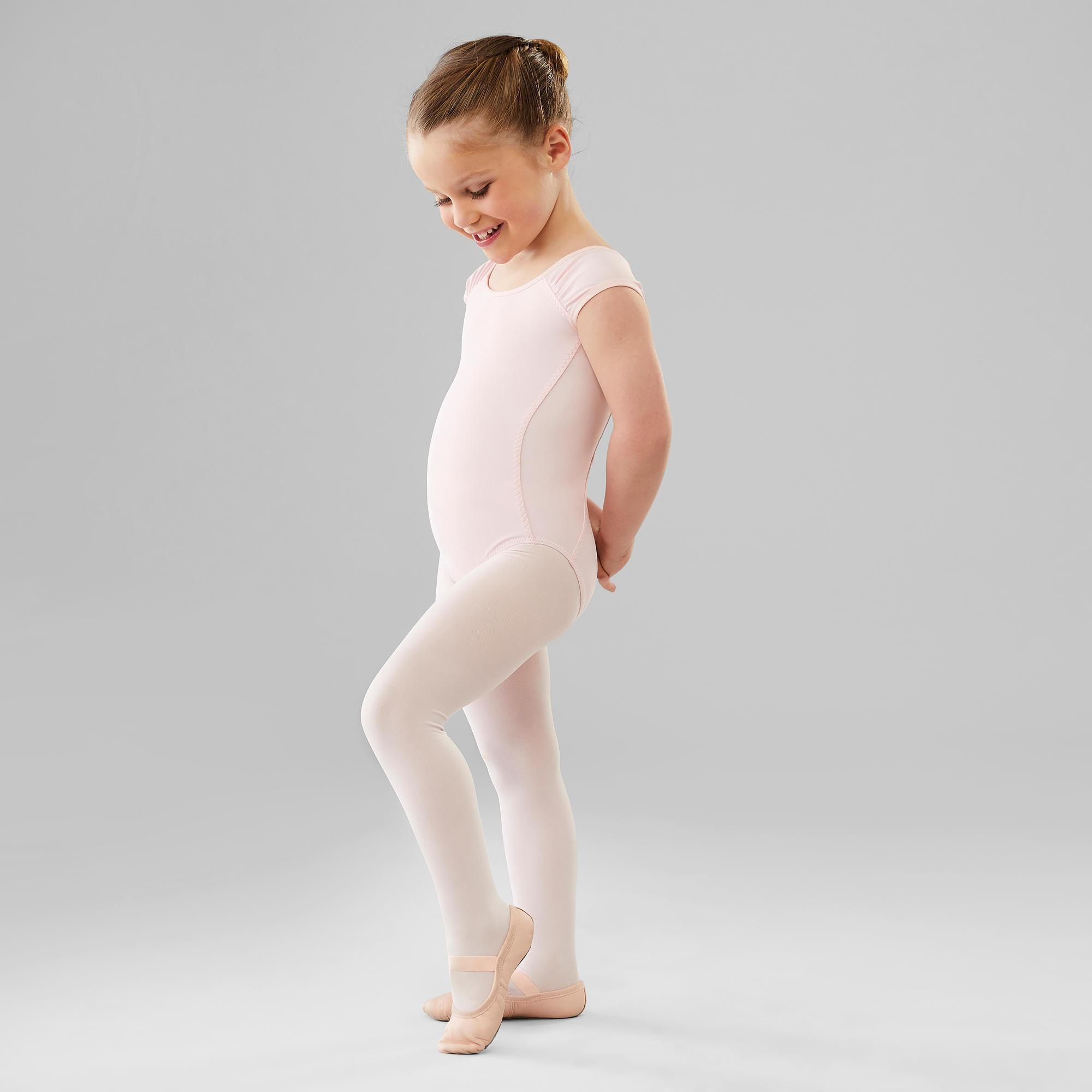 128ad378f Maillot Ballet Domyos Niña Manga Corta Rosa