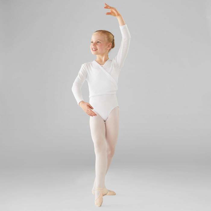 Cache-coeur klassiek ballet voor meisjes wit