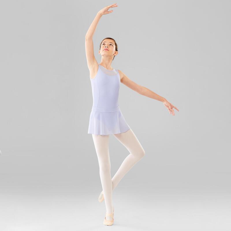 Justaucorps danse classique parme bi-matière fille