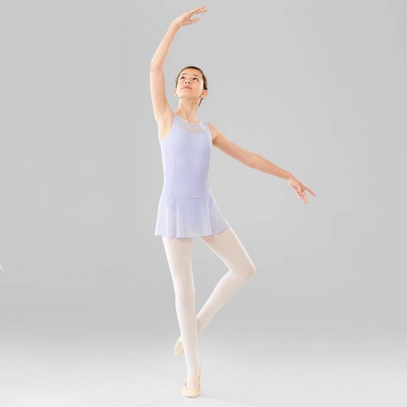 DÍVČÍ TRIKOTY, OBLEČENÍ NA BALET Balet - DÍVČÍ BALETNÍ TRIKOT FIALOVÝ DOMYOS - Balet