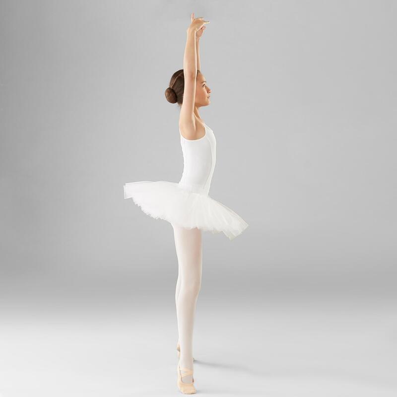 Girls' Ballet Pancake Tutu - White