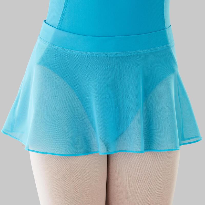 Jupette danse classique bleu turquoise en voile fille