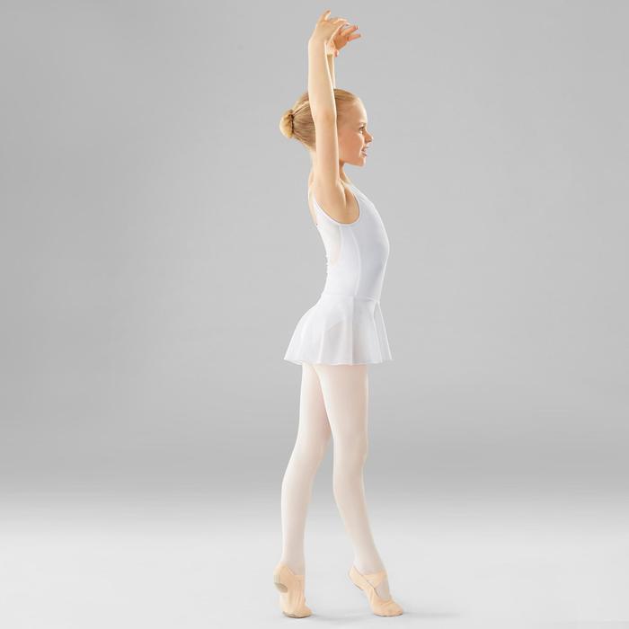 Tunika Ballett Bi-Material Mädchen weiss