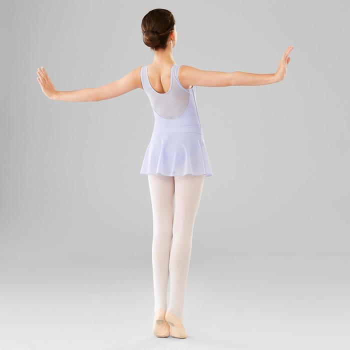 Tanzbody Ballett Bi-Material Mädchen hellviolett