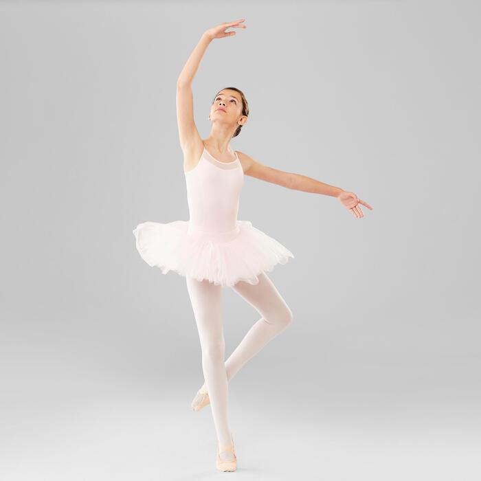 Ballett-Trikot mit Trägern Mädchen rosa