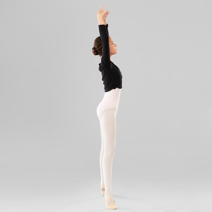 Tanz-Wickeljacke Mädchen schwarz