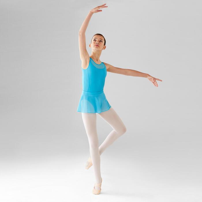 Balletrokje van voile voor meisjes blauw