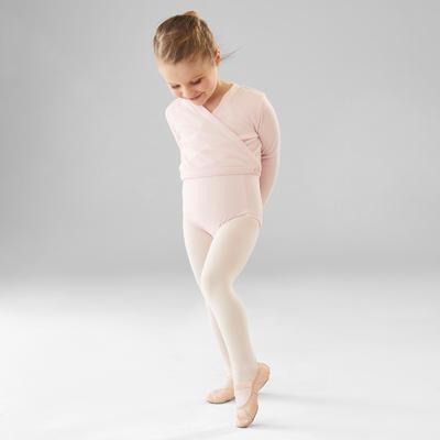 Cache-coeur de danse classique fille rose pâle