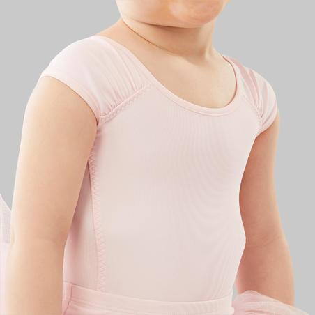 Leotard Balet Lengan Pendek Anak Perempuan - Pink