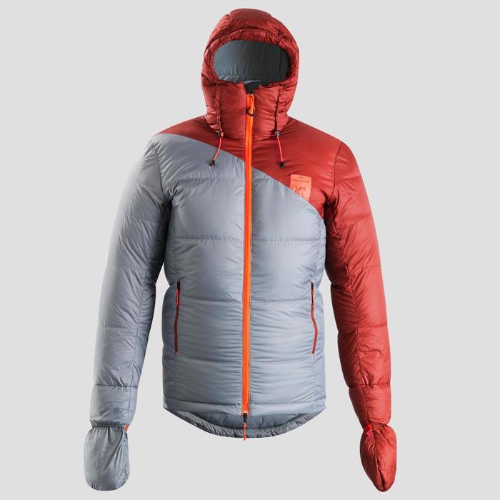Schlafsack/Jacke Sleeping Suit TREK900 3°C Daunen rot/grau