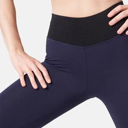 7/8-Leggings 510 Gym & Pilates Damen marineblau/schwarz