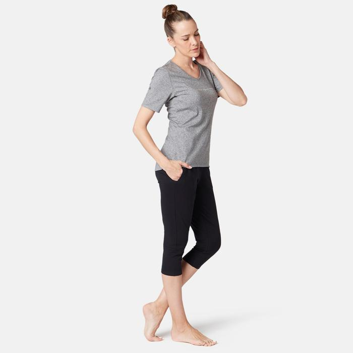 Legging court de sport 7/8 taille haute femme 510 noir