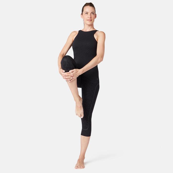 Débardeur avec Brassière Intégrée Sport Pilates Gym douce Femme 900 Slim Noir