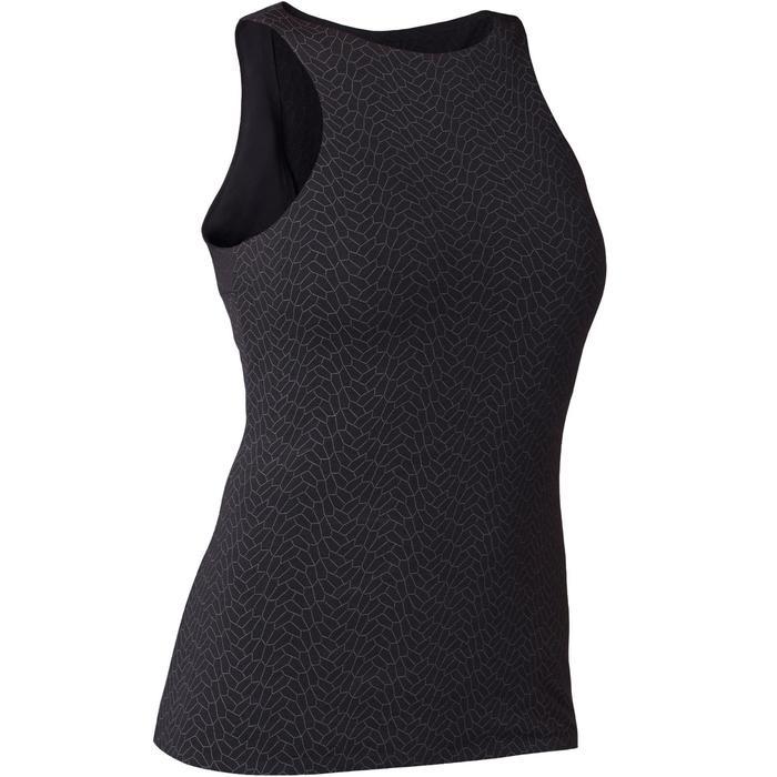 Camiseta sin mangas 560 top integrado Pilates y Gimnasia suave mujer negro estam